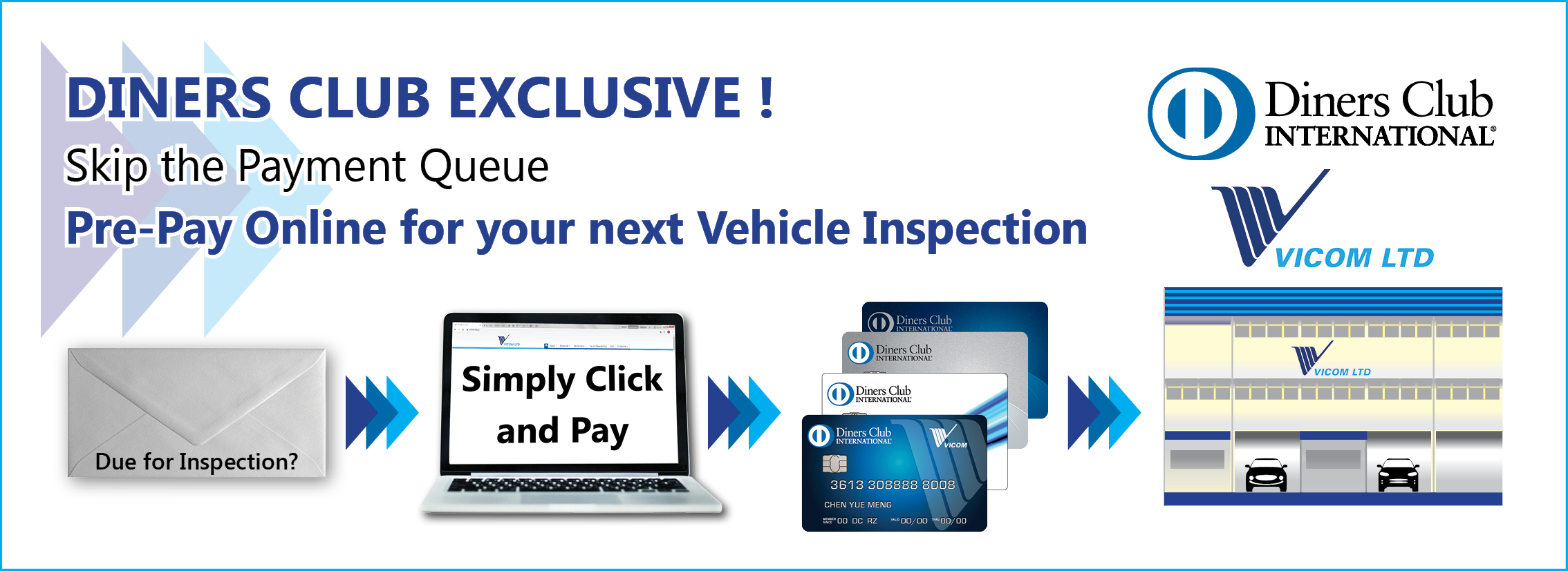 Online Payment for VICOM Inspection Services